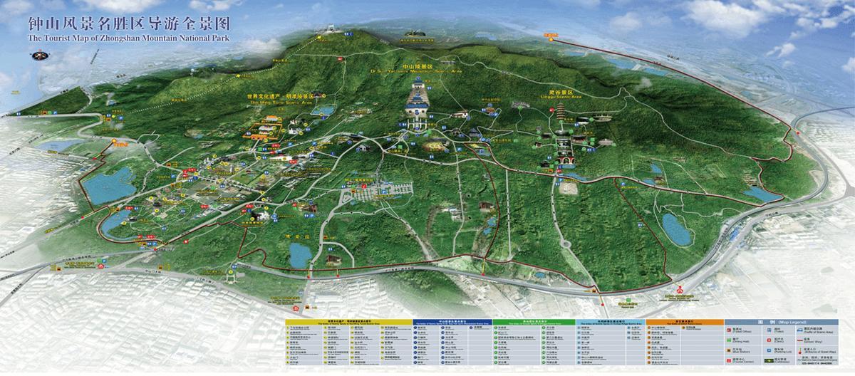 钟山风景名胜区旅游导图