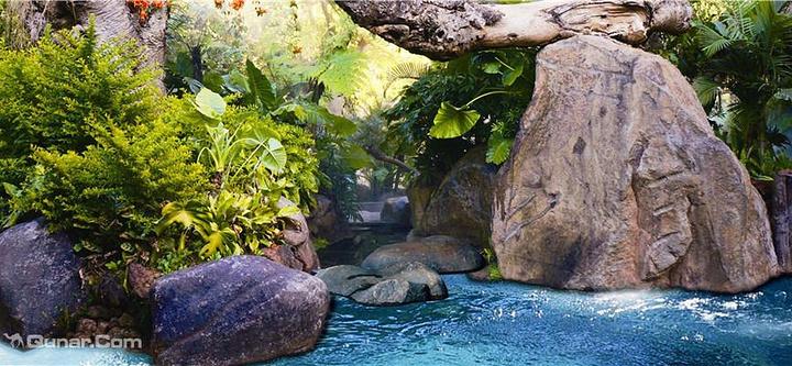 东南亚风格的纯天然森林温泉,各种设施相当齐全,服务相当周到,风景