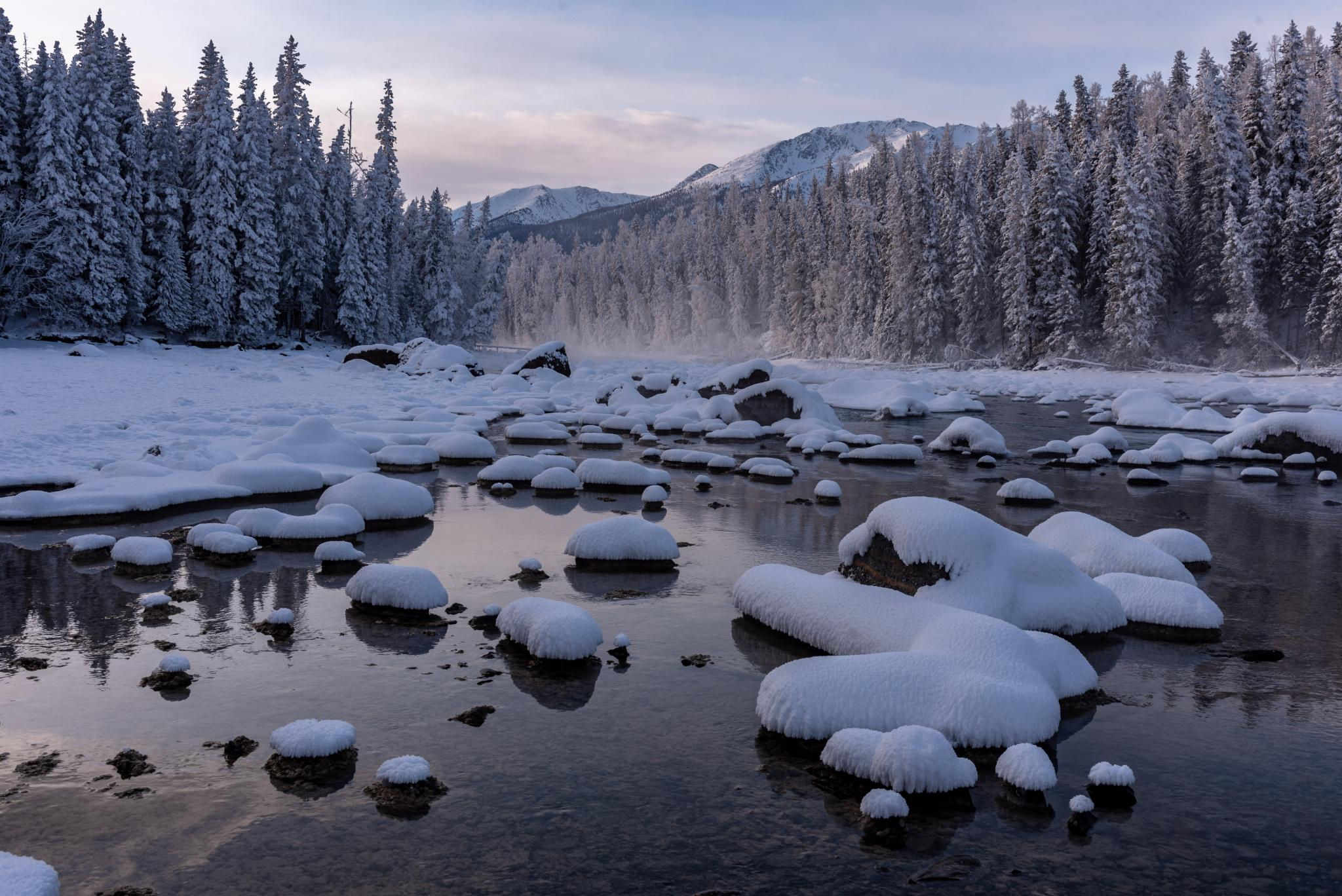 冬日喀纳斯,梦中的冰雪童话世界