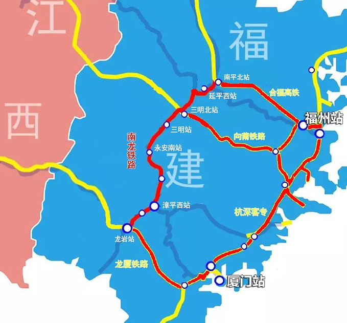 永安高铁线路图