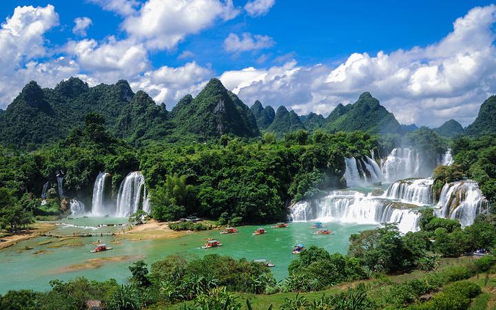 壁纸 风景 旅游 瀑布 山水 桌面 720_450