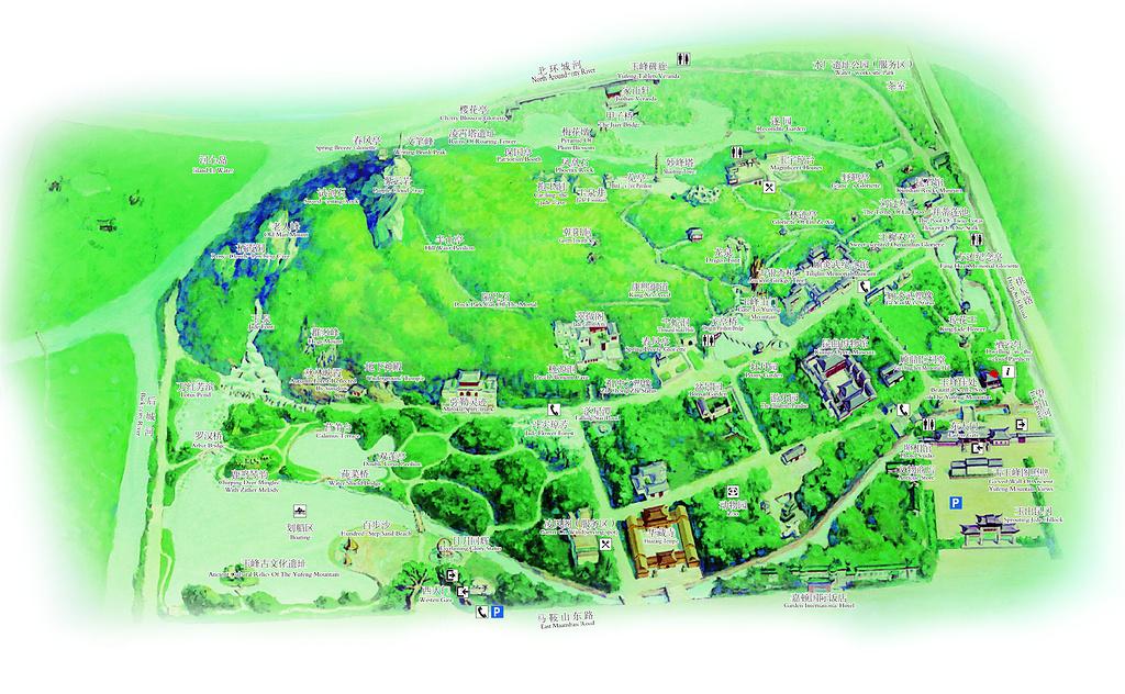亭林园旅游导图