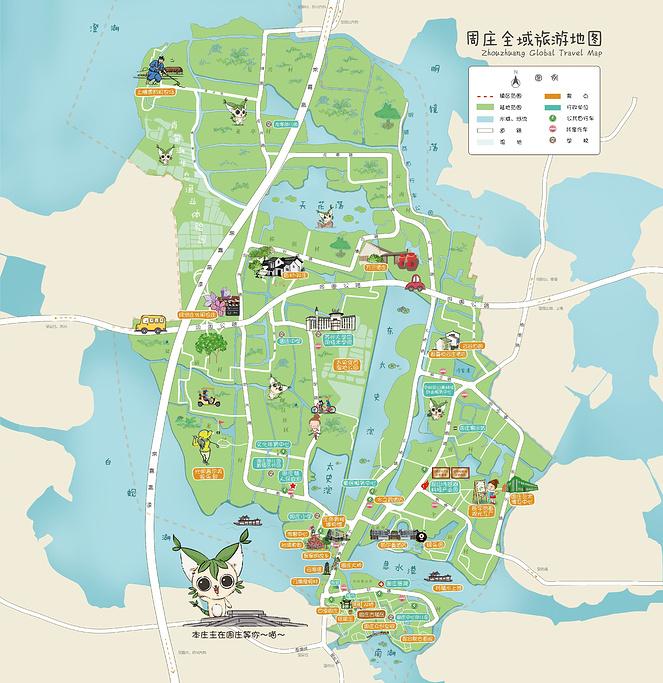 周庄旅游导图