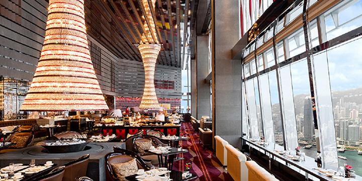 香港丽思卡尔顿酒店大堂酒廊旅游景点图片