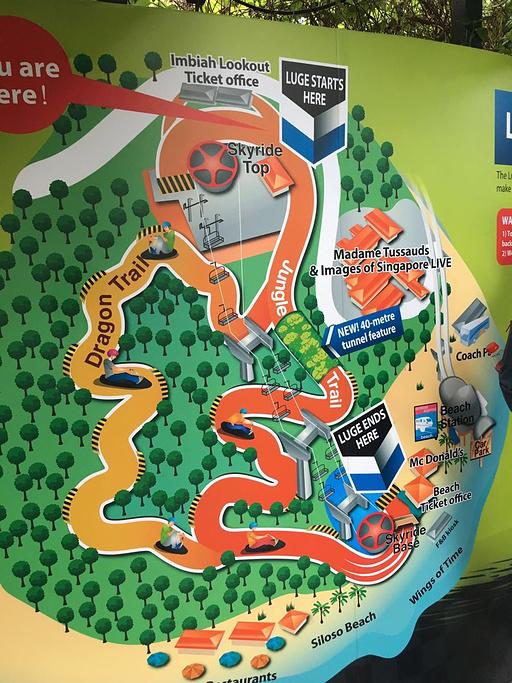 圣淘沙天际线斜坡滑车旅游导图