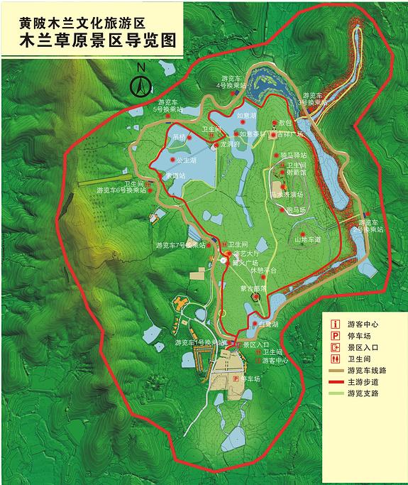 木兰草原旅游导图
