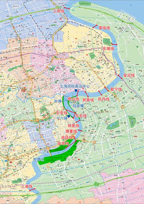 黄浦江游览船旅游导图