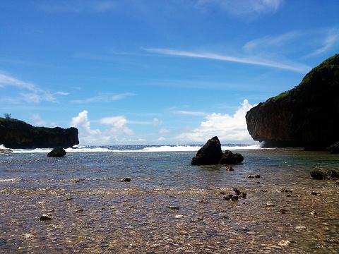 侧脸海滩旅游景点图片