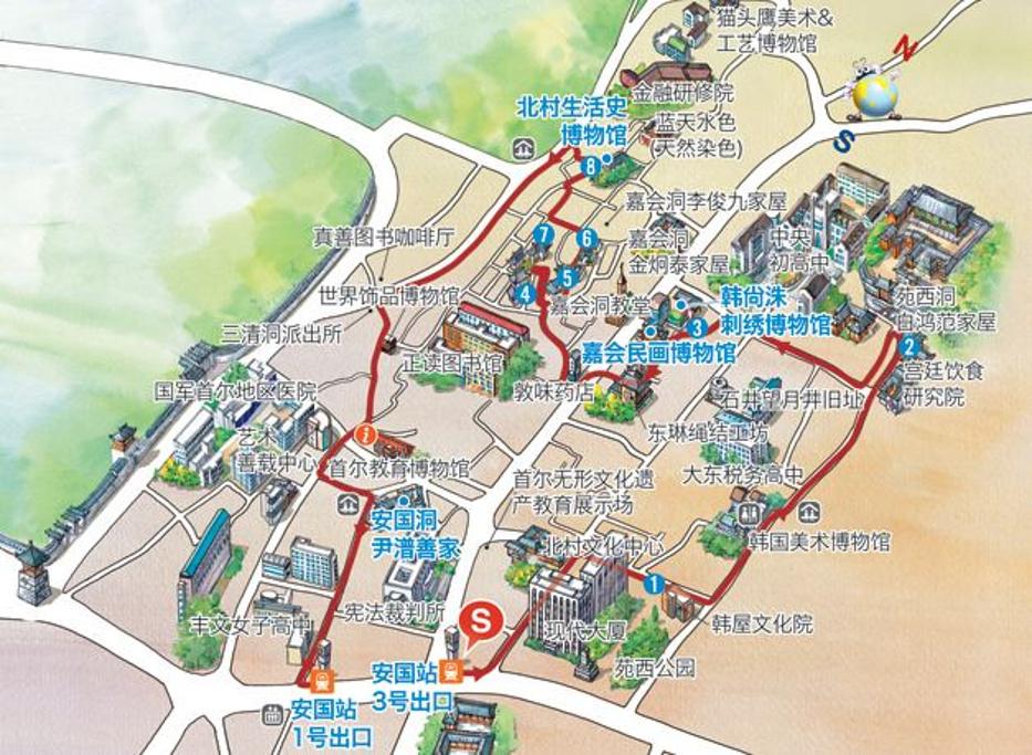 北村韩屋村旅游导图