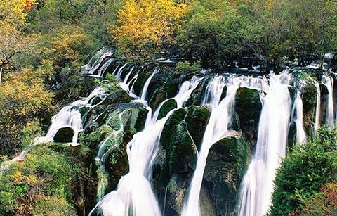 树正瀑布的图片