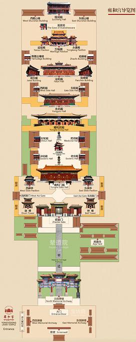 雍和宫旅游导图