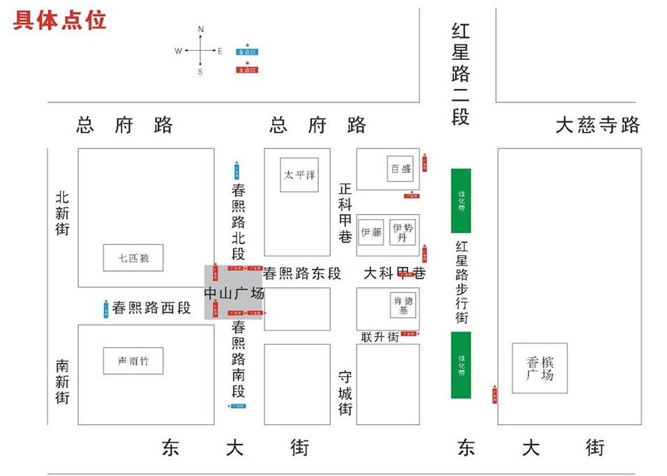 春熙路旅游导图