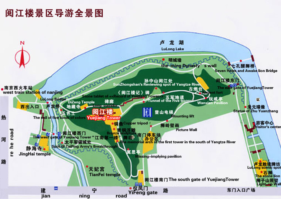 阅江楼旅游导图