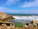 银沙滩海水浴场