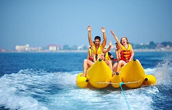 军舰岛香蕉船旅游景点图片