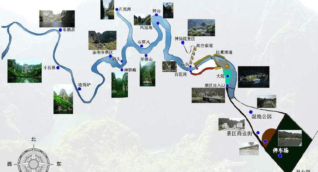 龙庆峡旅游导图