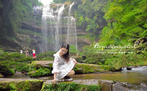 白龙潭瀑布的图片