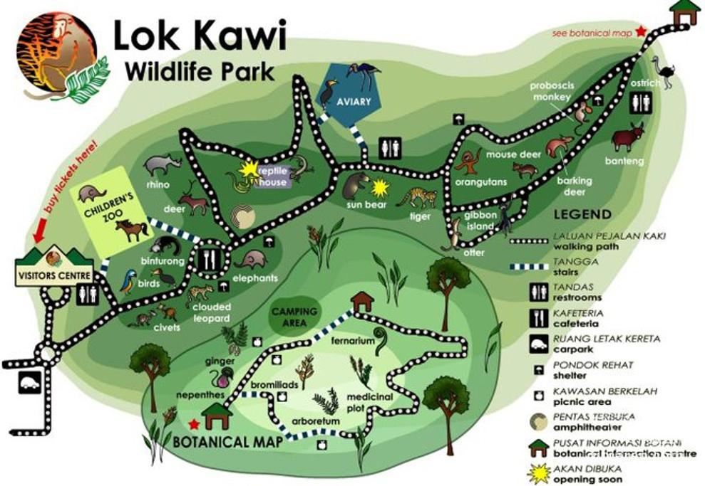 洛高宜野生动物园旅游导图