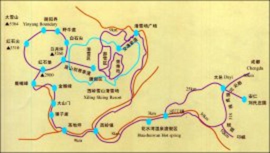 龙池国家森林公园旅游导图