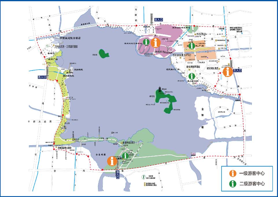 金鸡湖旅游导图