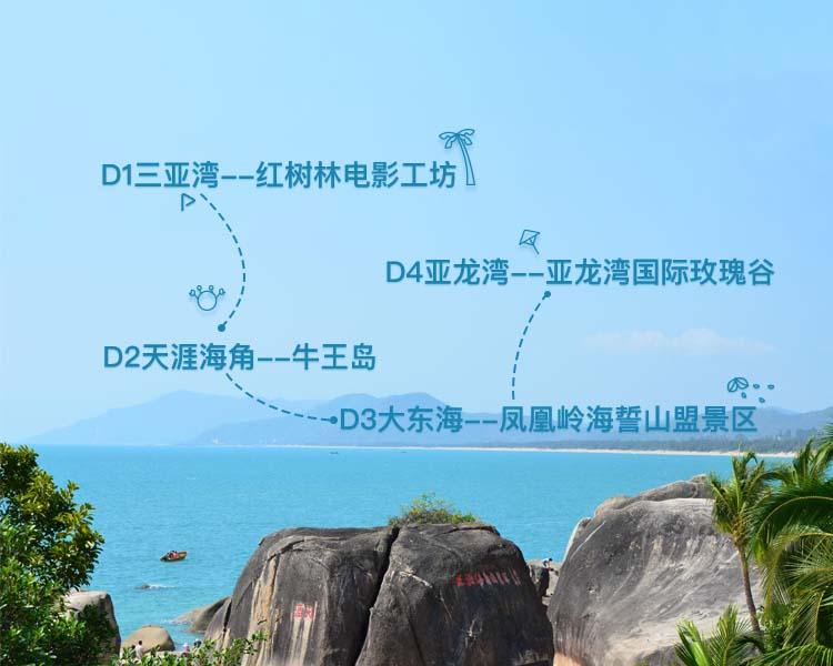 花钱超少,三亚四天纯海景低价自助游
