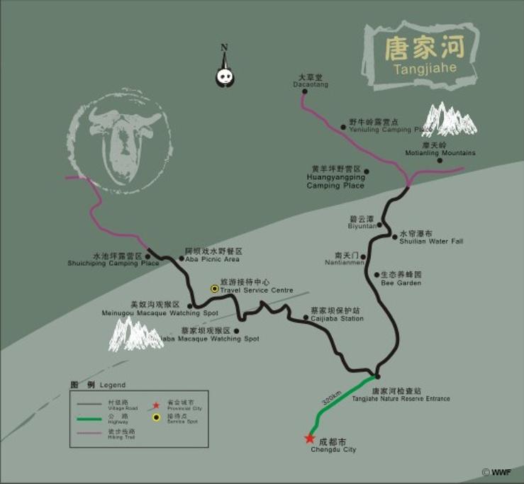 虹口自然保护区旅游导图