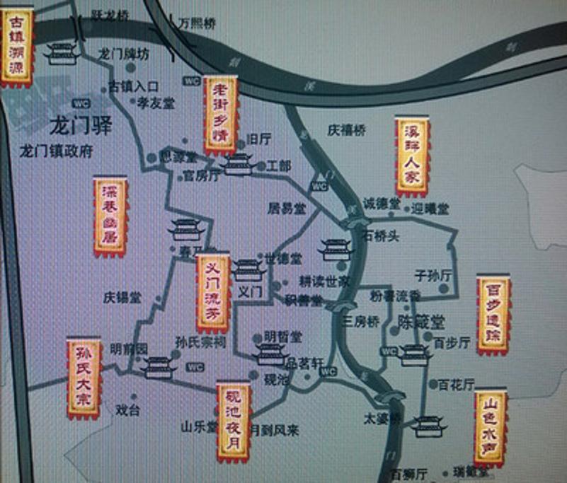 龙门古镇旅游导图