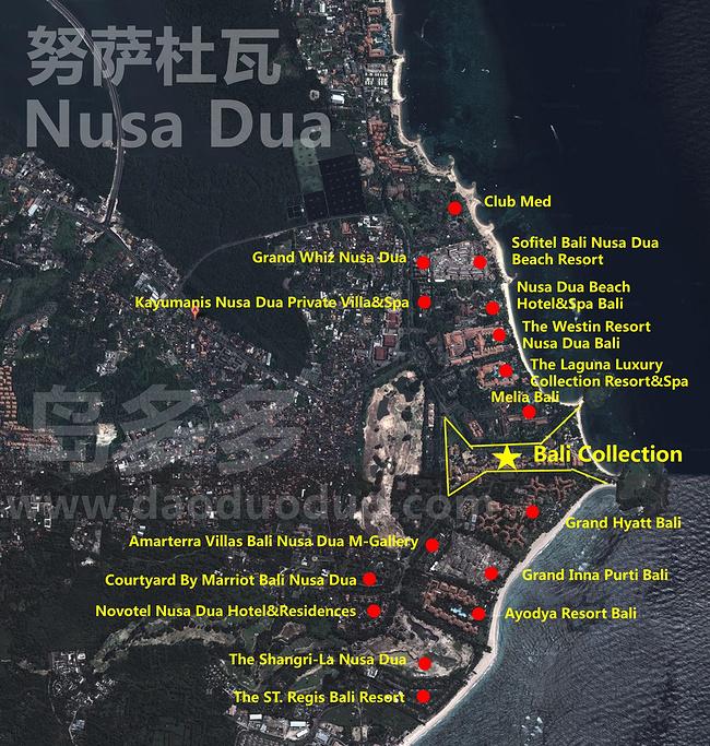 努沙杜瓦旅游导图
