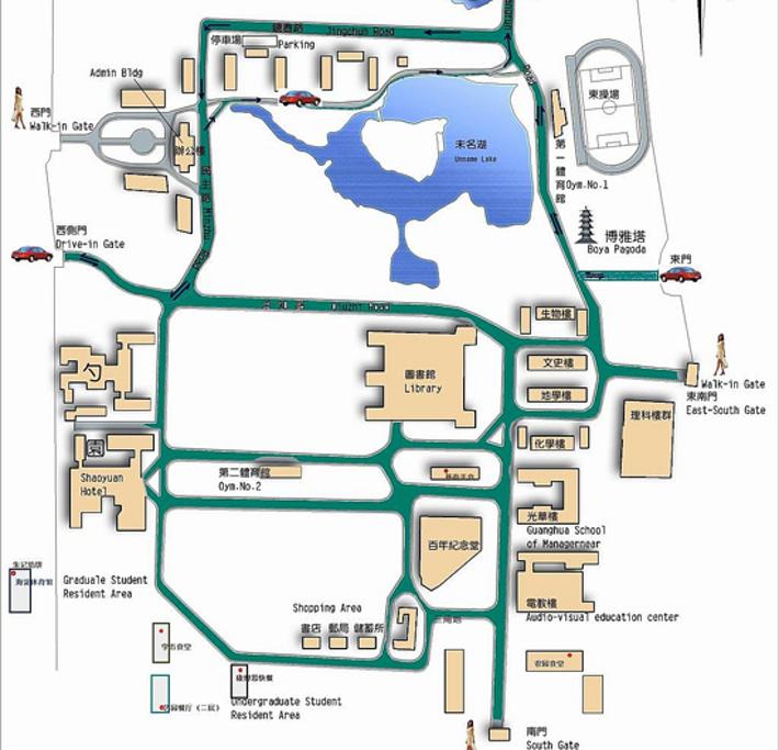 北京大学旅游导图