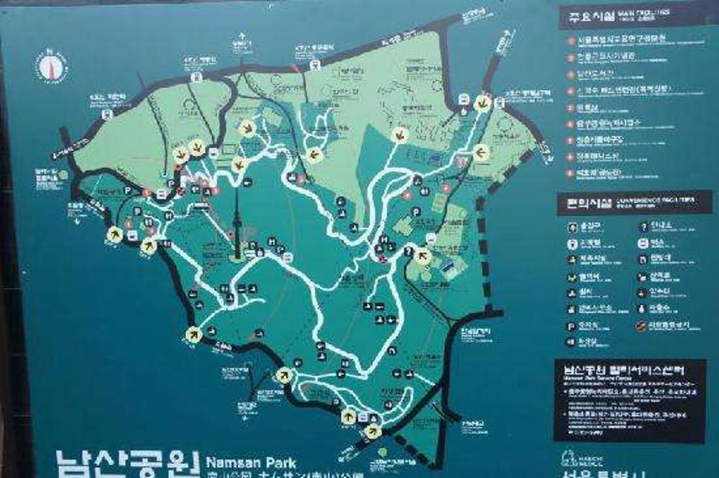 南山公园旅游导图