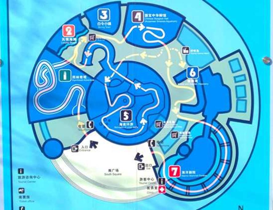 北京海洋馆旅游导图