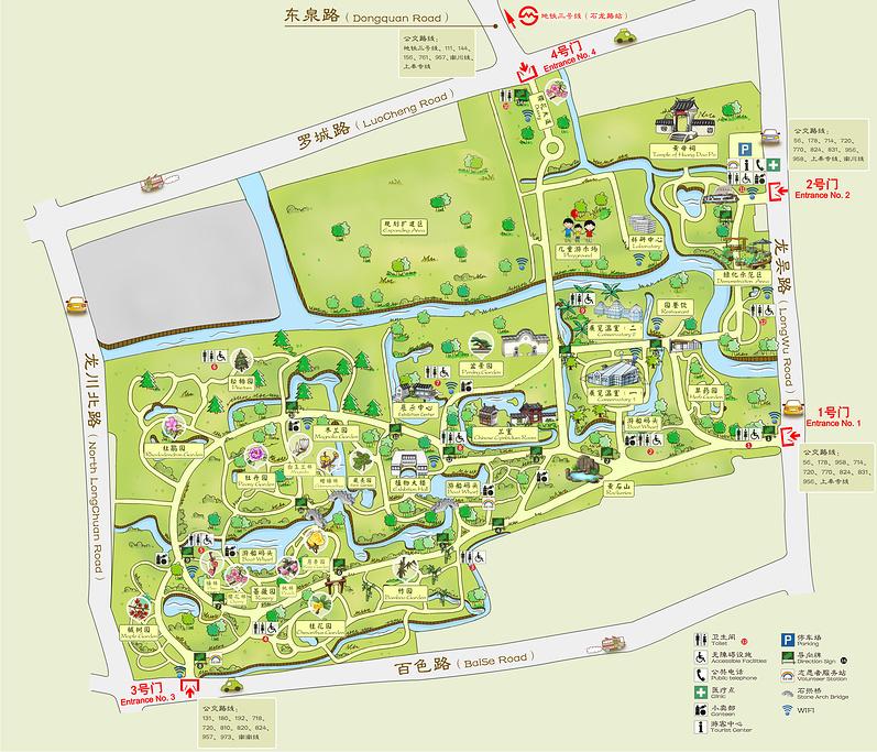 上海植物园旅游导图