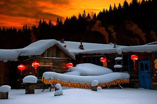 雪乡文化长廊旅游景点图片