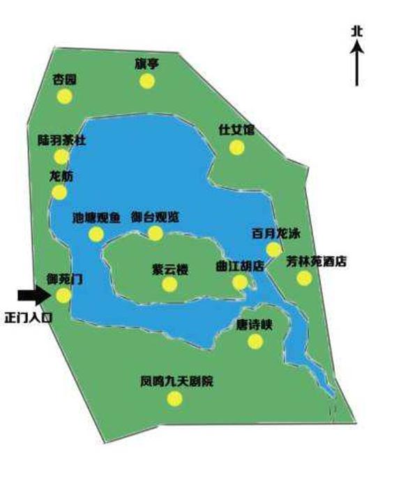 大唐芙蓉园旅游导图