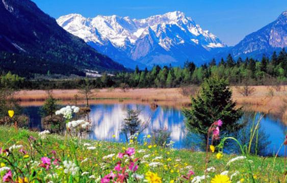 雪山湖风景区旅游景点图片
