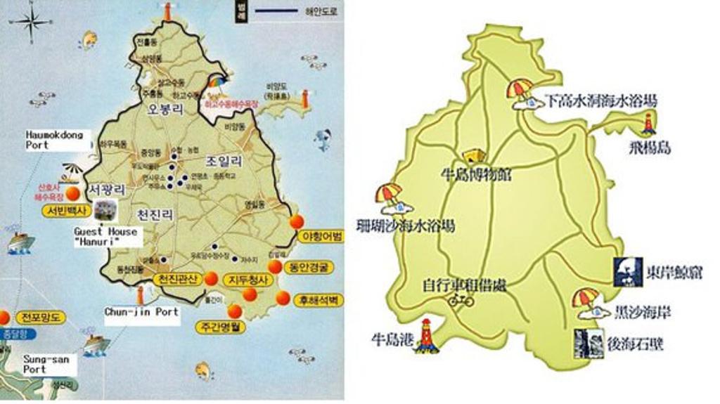 牛岛旅游导图
