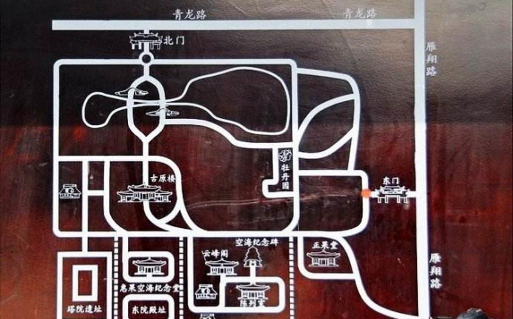 青龙寺旅游导图