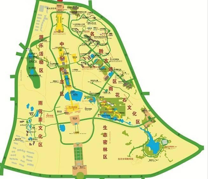 雨花台旅游导图
