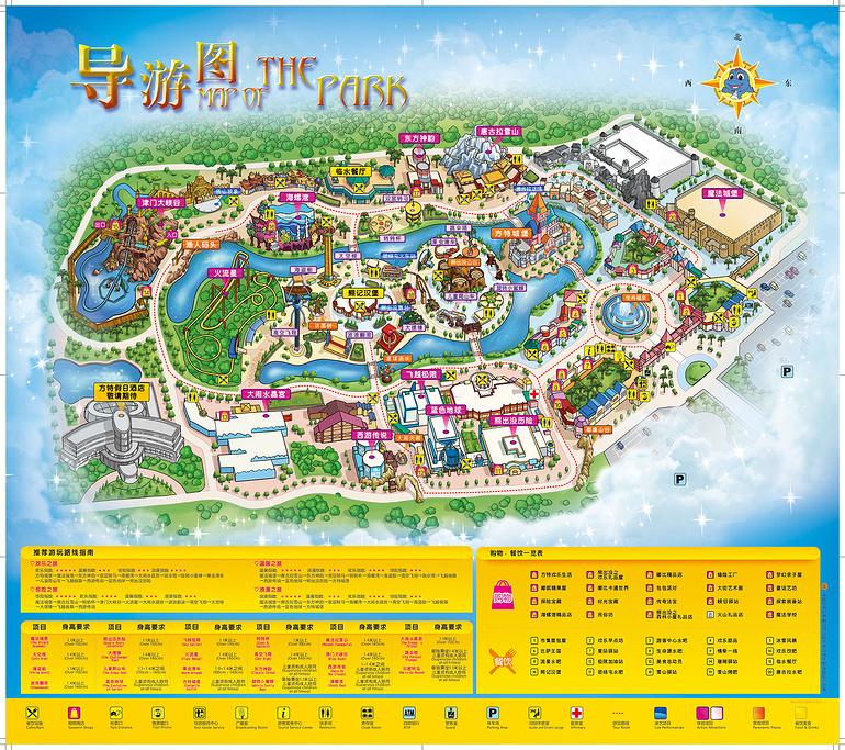 天津方特欢乐世界旅游导图