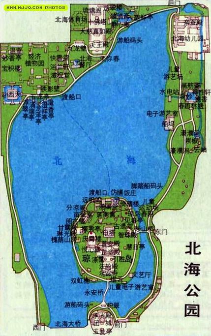 北海公园旅游导图