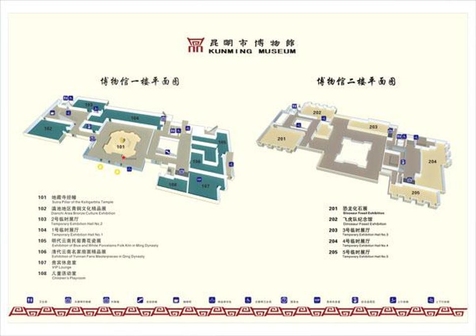 昆明市博物馆旅游导图