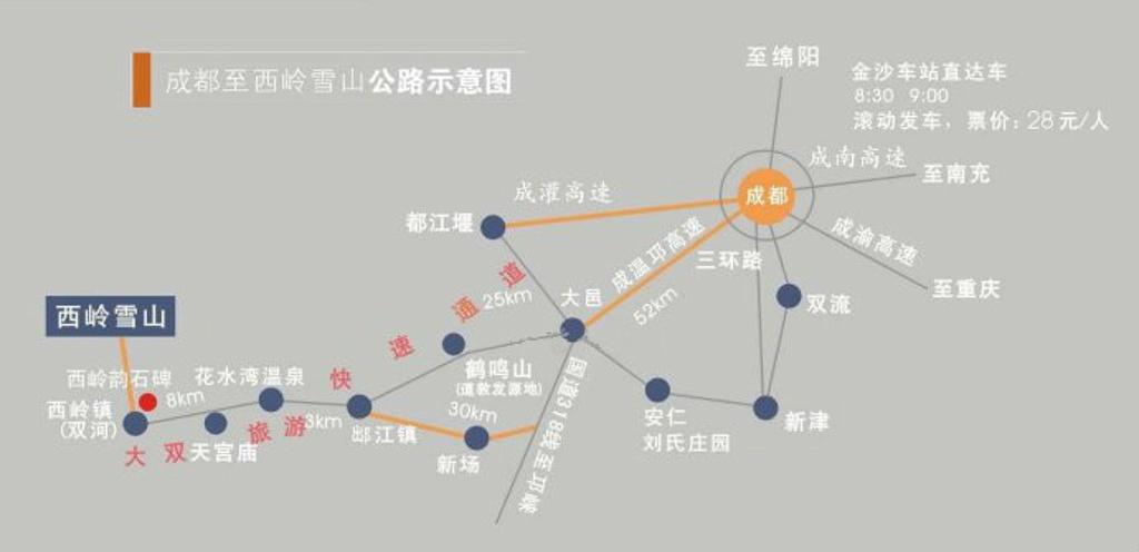鹤鸣山旅游导图