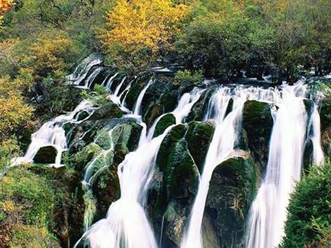树正瀑布旅游景点图片