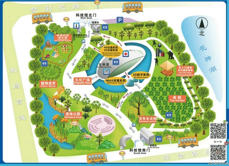 南京科技馆旅游导图