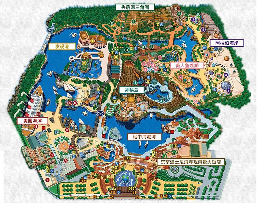 东京迪士尼乐园旅游导图