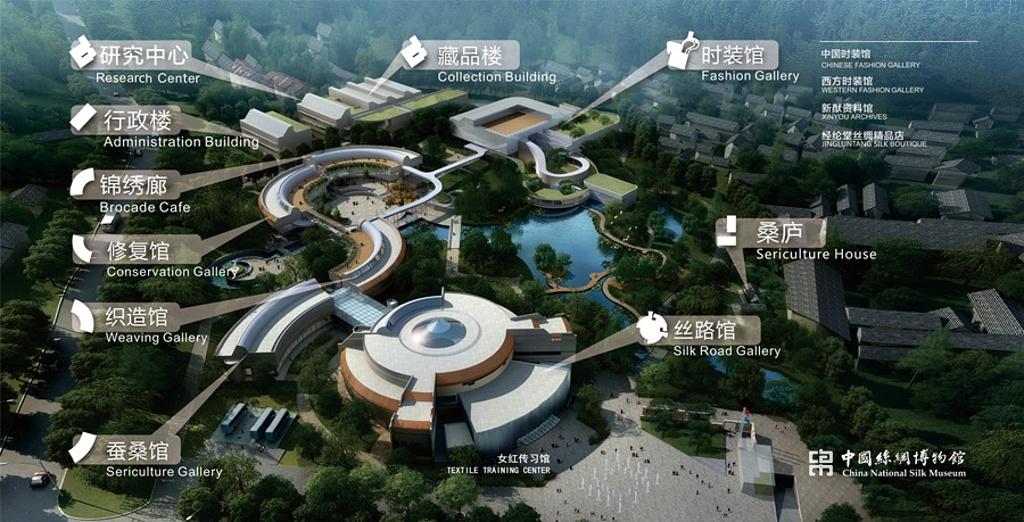 中国丝绸博物馆旅游导图