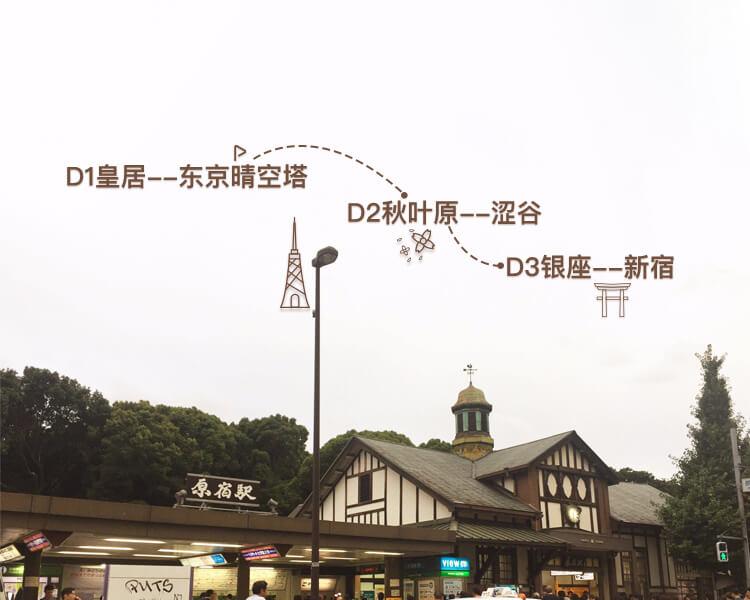 3日体会东京的时尚与古老