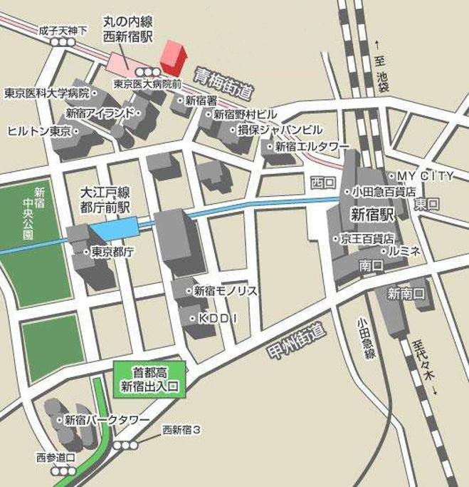 新宿旅游导图