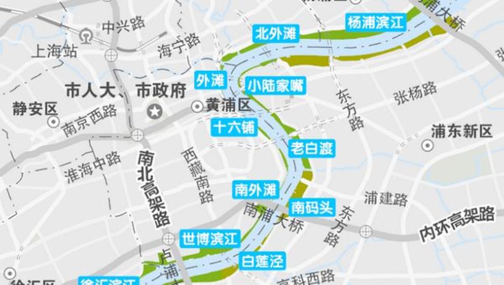 黄浦江观光区旅游导图