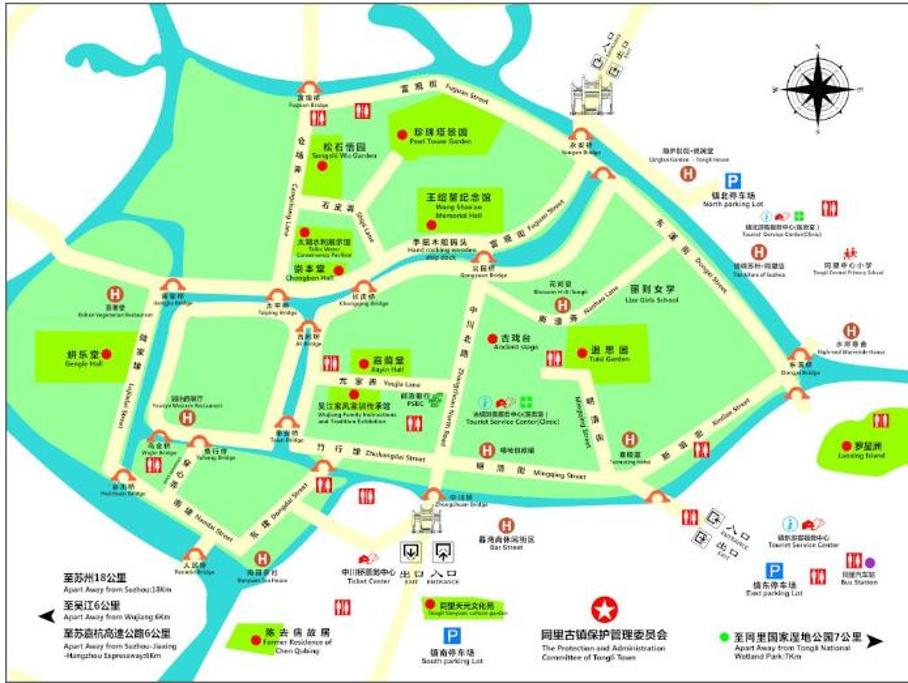 同里古镇旅游导图